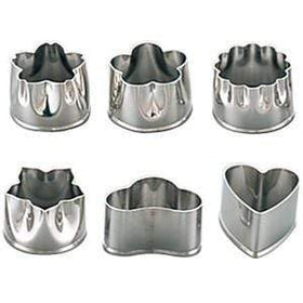 Shimotori Stainless Steel Flowers Cookie Cutters (Large) (Set of 6) Cookie Cutters