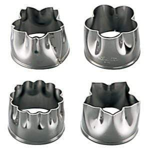 Shimotori Stainless Steel Flowers Cookie Cutters (Set of 4) Cookie Cutters