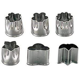 Shimotori Stainless Steel Flowers Cookie Cutters (Small) (Set of 6) Cookie Cutters