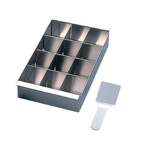 Shimotori Stainless Steel Kanten Jelly Yokan Mould with Divider & Spatula (Large) Pastry Moulds