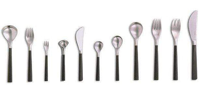 Sori Yanagi Black Handle Dessert Spoon 18cm Loose Cutlery