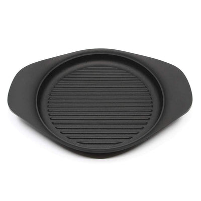 Sori Yanagi Cast Iron Induction Grill Pan with Stainless Steel Lid 22cm Grill Pans