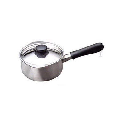 Sori Yanagi Stainless Steel Milk Pan with Lid 16cm (Mirror Finish) Milk Pans