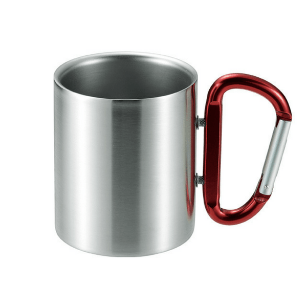 Takeda Stainless Steel Double-Wall Insulated Mug with Karabiner Handle  240ml (5 Colours)