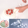 Tigercrown Clear Icing Syringe with 7 Nozzles Pastry Tips