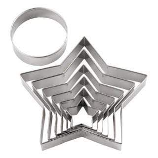 Tigercrown Stainless Steel 3D Christmas Tree Cookie Cutter 7-Piece Set Cookie Cutters