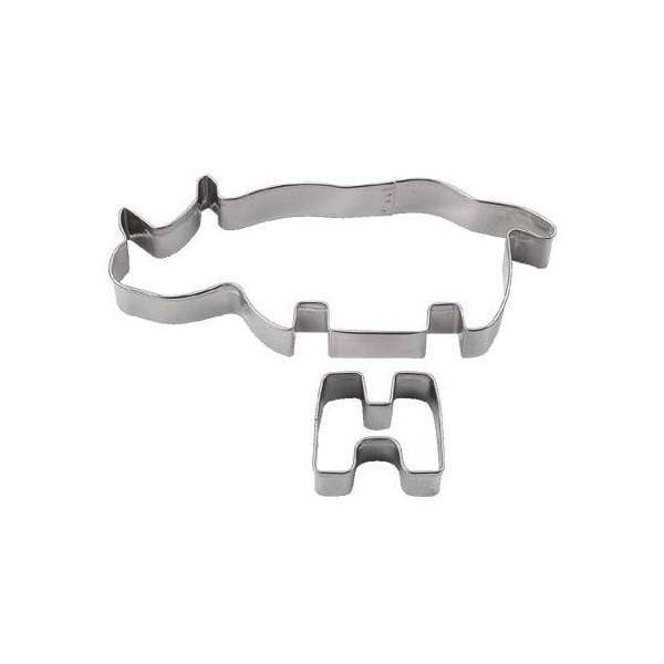 Tigercrown Stainless Steel 3D Rhino Cookie Cutters Cookie Cutters