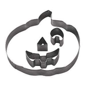 Tigercrown Stainless Steel Jack-O-Lantern Large Pumpkin Cookie Cutter 4-Piece Set Cookie Cutters