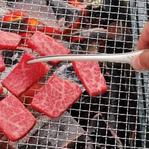Todai Stainless Steel Non-Slip Yakiniku BBQ Clever Tongs Cooking Tongs
