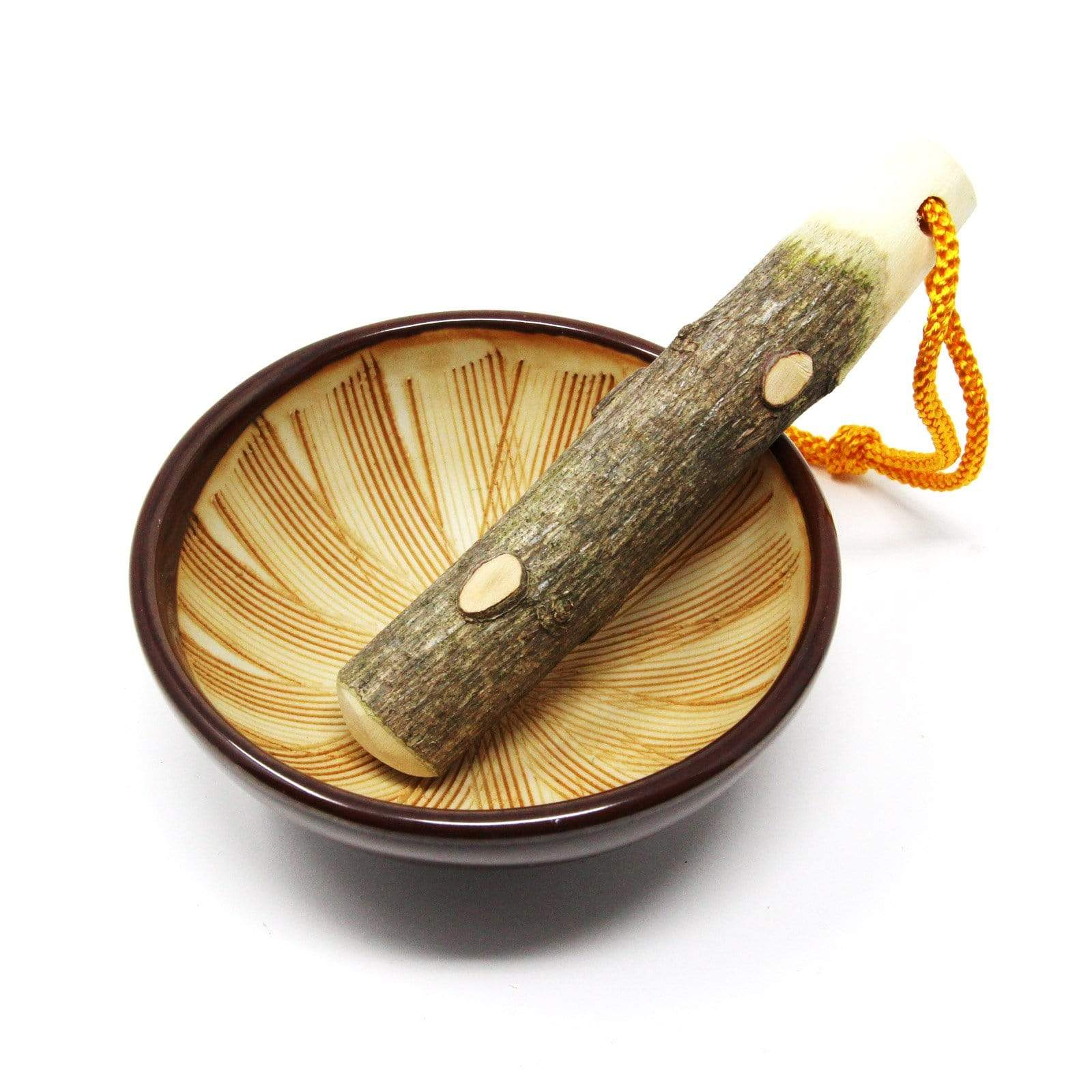 Yamacoh Traditional Seto-Ware Suribachi Mortar & Surikogi Pestle - Small Mortar & Pestles