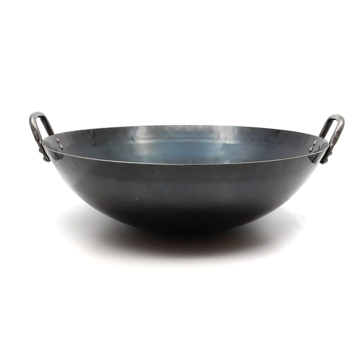 Yamada Hammered Iron Double-Handle Deep Wok (1.2mm Thickness) Hammered Iron Woks
