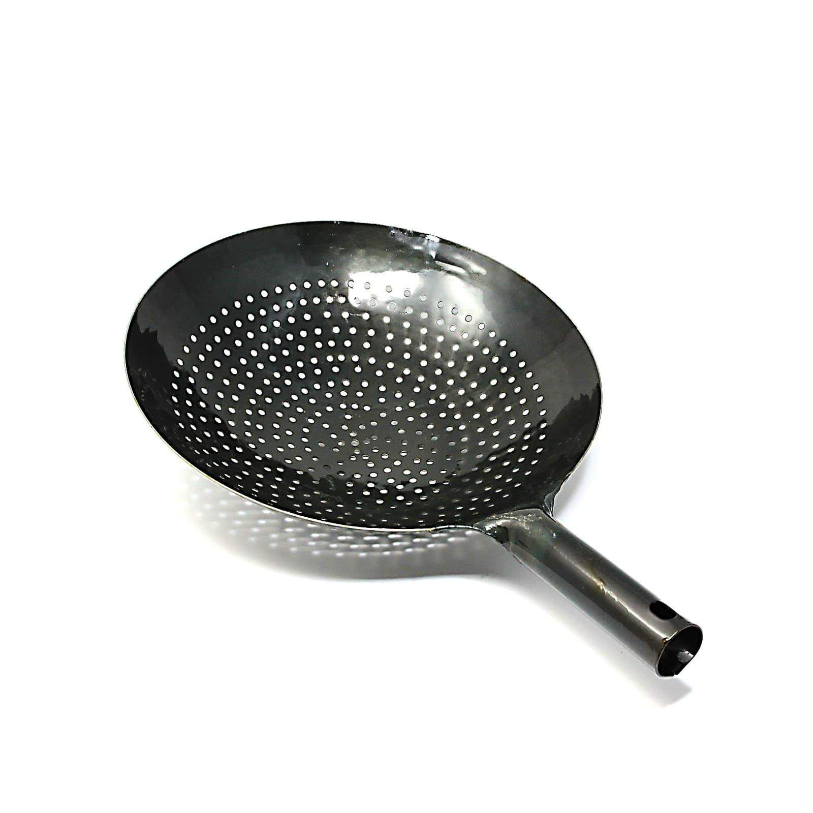 Yamada Hammered Iron Perforated Wok Strainer Wok Strainers