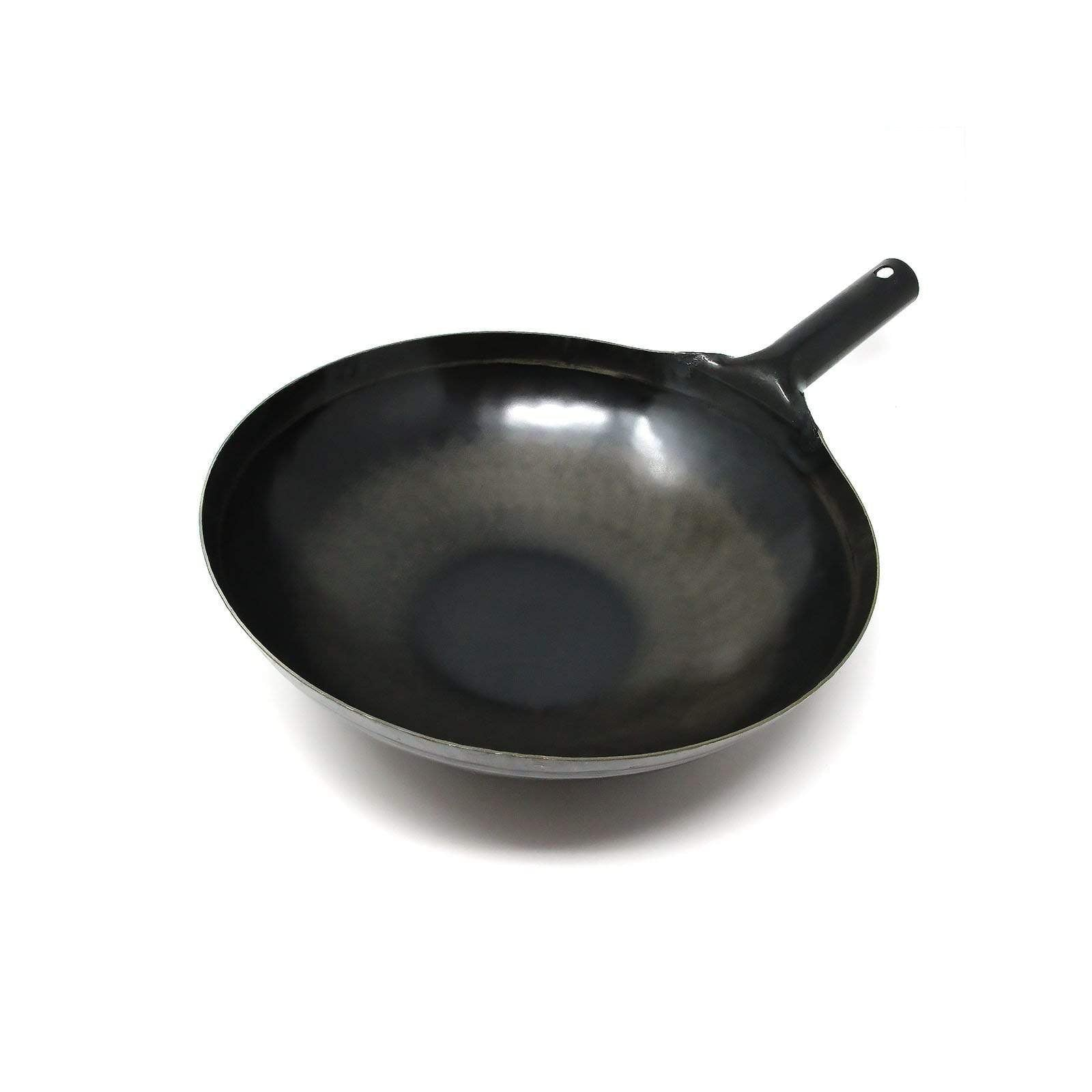 Yamada Hammered Iron Round Bottom Wok (1.6mm Thickness) Hammered Iron Woks