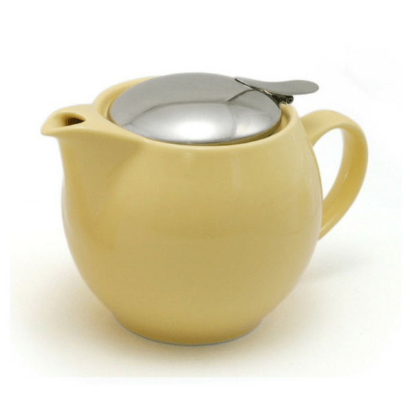 ZEROJAPAN Mino Ware Universal Teapot with Infuser 450ml (14 Colours) Banana Yellow Teapots