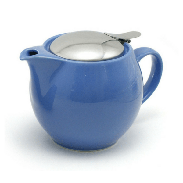 ZEROJAPAN Mino Ware Universal Teapot with Infuser 450ml (14 Colours) Blueberry Blue Teapots