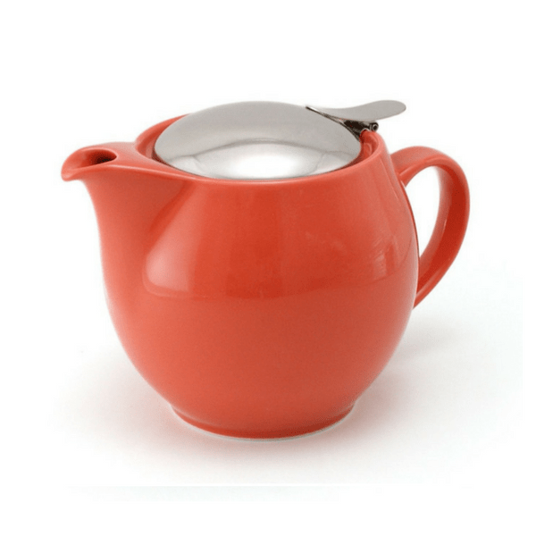 ZEROJAPAN Mino Ware Universal Teapot with Infuser 450ml (14 Colours) Carrot Red Teapots