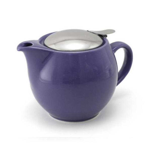 ZEROJAPAN Mino Ware Universal Teapot with Infuser 450ml (14 Colours) Eggplant Purple Teapots