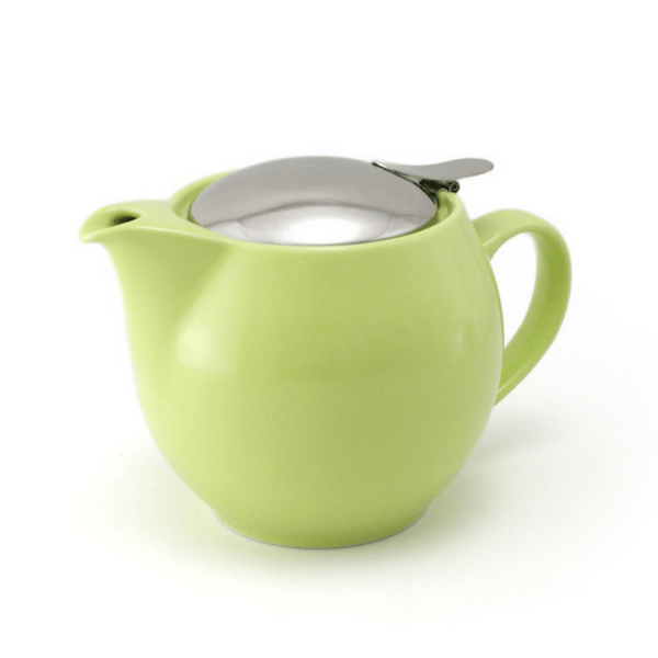 ZEROJAPAN Mino Ware Universal Teapot with Infuser 450ml (14 Colours) Kiwi Green Teapots