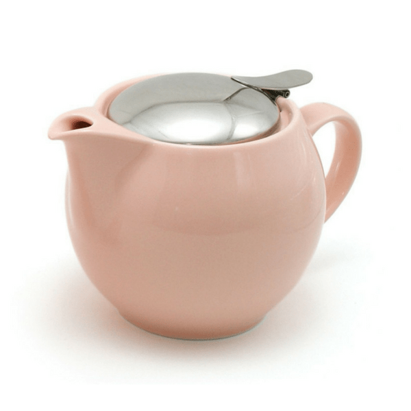 ZEROJAPAN Mino Ware Universal Teapot with Infuser 450ml (14 Colours) Pink Teapots