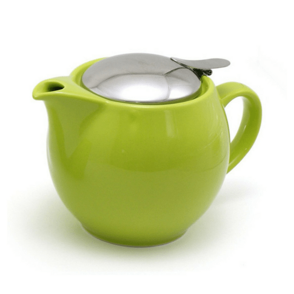 ZEROJAPAN Mino Ware Universal Teapot with Infuser 450ml (14 Colours) Sencha Green Teapots