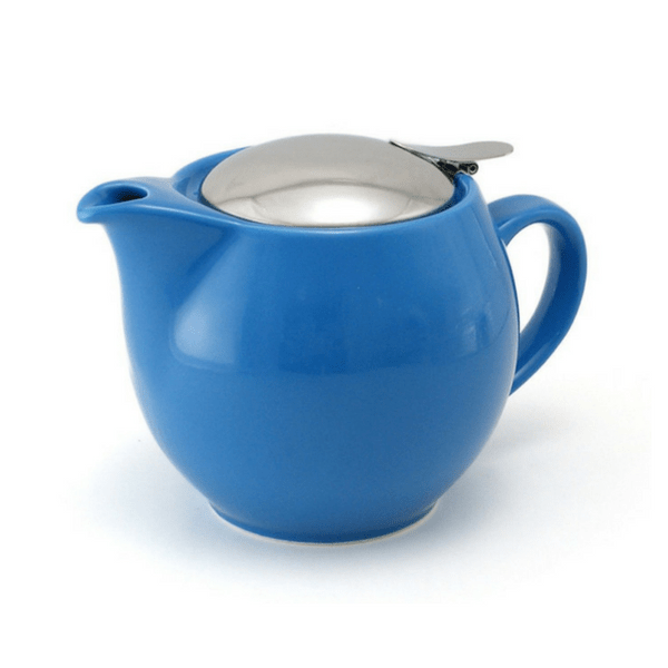 ZEROJAPAN Mino Ware Universal Teapot with Infuser 450ml (14 Colours) Turquoise Blue Teapots