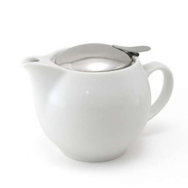 ZEROJAPAN Mino Ware Universal Teapot with Infuser 450ml (14 Colours) White Teapots