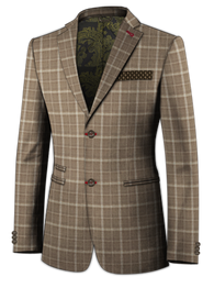 Tan Windowpane Jacket