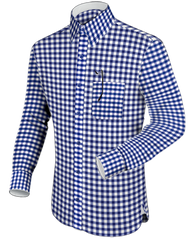 Blue Checked Dress Shirt