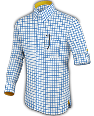 Blue Window Pane Dress Shirt