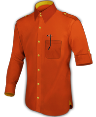 Deep Orange Dress Shirt