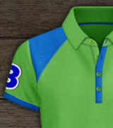 Polo - Green Apple / Pacific Blue
