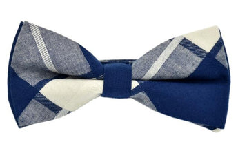 Gentleman British Style Fashion Plaid Cotton Bow Tie