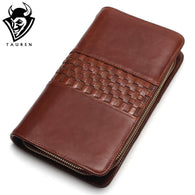 New Free Shipping Genuine Cow Leather Clutch Bags Wallet Envelope Credit Card Holder Men's Vintage Wallets