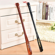 New 55cm Mahogany craft Wooden Shoe Horn Professional Wooden Long Handle Shoe Horn Lifter Shoehorn