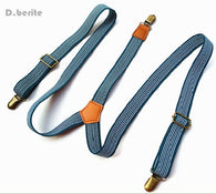 Men's Unisex Casual Striped Style Adjustable Clip-on Suspenders Braces BDXJ2507