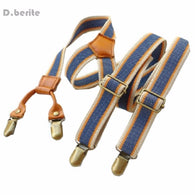 Men's Unisex Casual Striped Style Adjustable Clip-on Suspenders Braces BDXJ2503