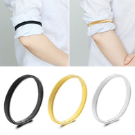 1 Pair Vintage Bangle Shirt Sleeve Holder Unisex Stretchy Elastic Elasticated Metal Sleeve Garters Armbands Jewelry Accessories
