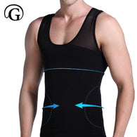 PRAYGER Men Boobs Compression Breathable VEST Shaper Tummy trimmer Slimming Undershirt Tops Corset Gynecomastia Chest Shaper