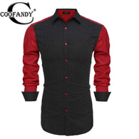 COOFANDY Stylish Male Wear Men Dot Casual Shirts For Men Hot Sale Long Sleeve Slim Fit Men Dress Shirts Men Camisas Masculinas