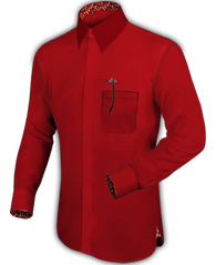 Deep Red Dress Shirt