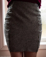 Twill Zippered Skirt