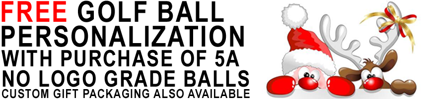 Free Golf Ball Personalization with the purchase of 5A No Logo Grade Golf Balls