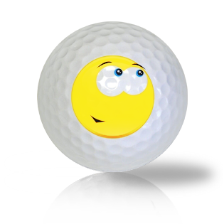 Admiration Emoticon Golf Balls - Found Golf Balls
