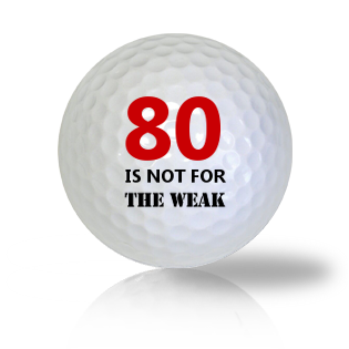Age Of 80 Golf Balls - Found Golf Balls