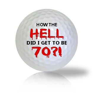 Age Of 70 Golf Balls - Found Golf Balls