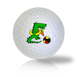 Alligator Playing on the Beach Golf Balls - Found Golf Balls