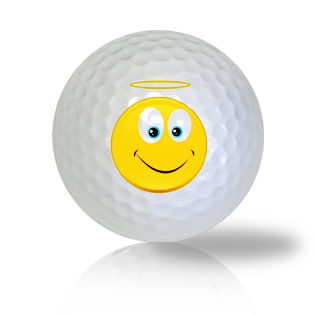Angel Emoticon Golf Balls - Found Golf Balls