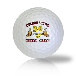 Happy 30th Birthday Golf Balls - Found Golf Balls