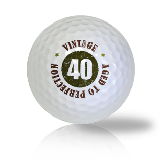 Happy 40th Birthday Golf Balls - Found Golf Balls