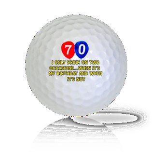 Happy 70th Birthday Golf Balls - Found Golf Balls